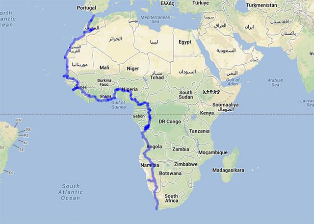 アフリカのルート