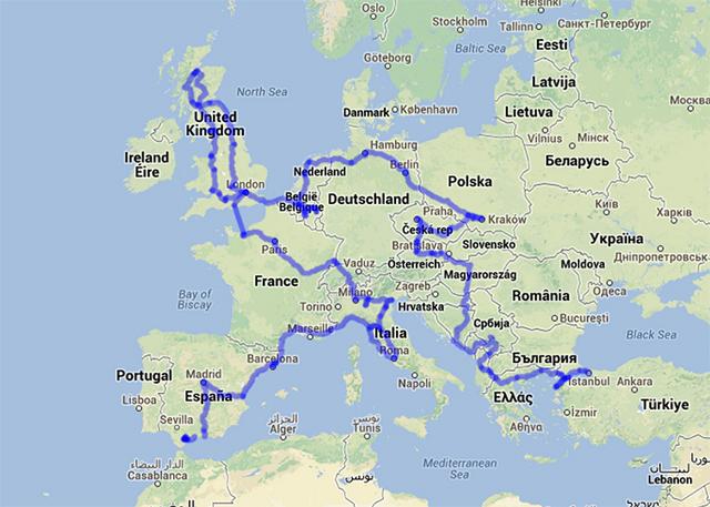 ヨーロッパのルート